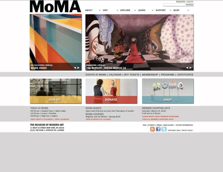 MOMA home main nav